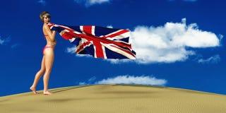 ejemplo 3d de la bandera stock de ilustración