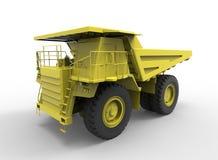 ejemplo 3d de la máquina del vehículo de la mina, en el fondo blanco con la sombra Fácil de utilizar Imagen de archivo libre de regalías