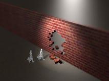 ejemplo 3D de la pared derecha libre illustration