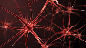 ejemplo 3d de las neuronas que forman una red neuronal libre illustration