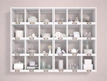 ejemplo 3d de los diversos accesorios de la cocina libre illustration