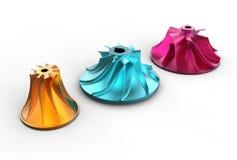 ejemplo 3D de los impeledores de turbo Imágenes de archivo libres de regalías