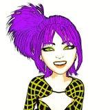 ejemplo 3D de Manga Girl Imagen de archivo