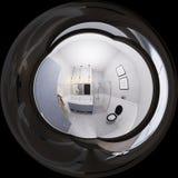 ejemplo 3D de un diseño interior del cuarto de baño en estilo clásico Fotografía de archivo libre de regalías