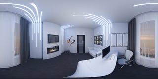 ejemplo 3d de un Ministerio del Interior en un estilo del espacio Fotografía de archivo