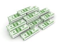ejemplo 3D de una pila de efectivo stock de ilustración
