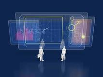 ejemplo 3D del análisis de la situación actual stock de ilustración
