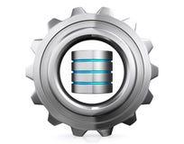 ejemplo 3D del concepto del almacenamiento de la base de datos, computación de la nube Fotografía de archivo libre de regalías
