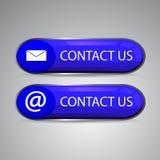 ejemplo 3D del contacto nosotros icono de la web ilustración del vector