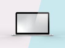 ejemplo 3D del cuaderno en la menta simple Backgroun del rosa en colores pastel ilustración del vector