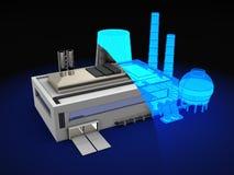 Diseño de la fábrica stock de ilustración