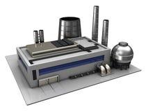 Edificio industrial libre illustration