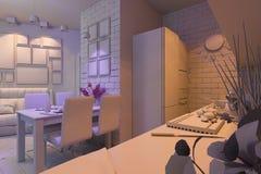 ejemplo 3D del estudio Visualización fuera Imagen de archivo