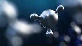 ejemplo 3D del fondo abstracto de la molécula del metal plateado libre illustration