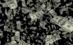 ejemplo 3D del fondo negro de la lluvia de USD/Dollar libre illustration