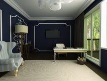 ejemplo 3D del gabinete clásico hermoso Foto de archivo