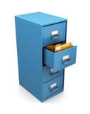 gabinete 3d con las carpetas Imagen de archivo