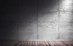 ejemplo 3d del interior concreto sucio libre illustration