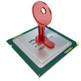 ejemplo 3d del microprocesador codificado y de muchos otros ilustración del vector