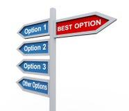 la mejor opción de la señal de tráfico 3d a seleccionar Imagen de archivo libre de regalías