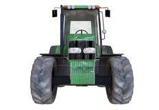 ejemplo 3D del tractor aherrumbrado viejo en el fondo blanco Foto de archivo libre de regalías
