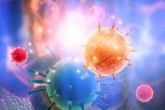 ejemplo 3d del virus libre illustration