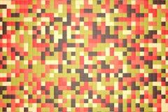 ejemplo 3d: el fondo abstracto del mosaico, los bloques coloreados broncea, rojo, rosa, verde, beige, color amarillo Caída, otoño libre illustration