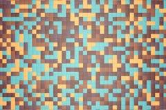 ejemplo 3d: el fondo abstracto del mosaico, los bloques coloreados broncea, se pone verde, beige, naranja, color amarillo Gama de libre illustration