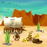 Ejemplo de Accessories Wild West del vaquero Ilustración del Vector