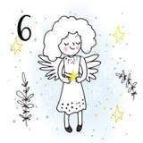 Ejemplo de Advent Calendar para esperar de la Navidad libre illustration