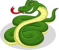 Ejemplo de alta calidad de la historieta del vector de la serpiente Fotografía de archivo