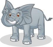Ejemplo de alta calidad de la historieta del vector del elefante Fotografía de archivo libre de regalías