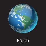 Ejemplo de alta calidad del vector de la estrella de la órbita del globo de la geología de la astronomía de la galaxia del planet Fotos de archivo libres de regalías