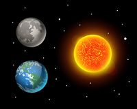 Ejemplo de alta calidad del vector de la estrella de la órbita del globo de la geología de la astronomía de la galaxia del planet Fotos de archivo