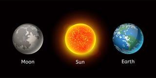 Ejemplo de alta calidad del vector de la estrella de la órbita del globo de la geología de la astronomía de la galaxia del planet Imagen de archivo libre de regalías