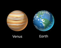 Ejemplo de alta calidad del vector de la estrella de la órbita del globo de la geología de la astronomía de la galaxia del planet ilustración del vector