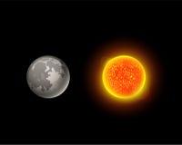 Ejemplo de alta calidad del vector de la estrella de la órbita del globo de la geología de la astronomía de la galaxia del planet Imágenes de archivo libres de regalías