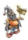 Ejemplo de alta calidad de la mascota del duende, cubierta, fondo, papel pintado stock de ilustración
