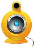 Ejemplo de alta tecnología del vector del altavoz de audio Stock de ilustración
