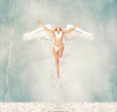 Ejemplo de Angel Emerges From The Sea de la hada del agua Imagen de archivo libre de regalías