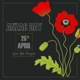 Ejemplo de Anzac Day fotos de archivo