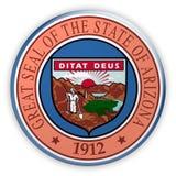 Ejemplo de Arizona 3d del sello del estado de los E.E.U.U. de la insignia ilustración del vector