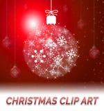 Ejemplo de Art Means Clipart 3d del clip de la Navidad ilustración del vector