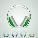 Ejemplo de auriculares Fotos de archivo