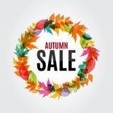 Ejemplo de Autumn Leaves Sale Background Vector Fotografía de archivo libre de regalías