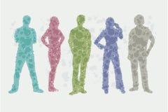 Ejemplo de Avatar - siluetas de la gente ilustración del vector
