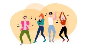 Ejemplo de baile del vector de la gente ilustración del vector