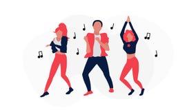 Ejemplo de baile del vector de la gente stock de ilustración