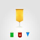 Ejemplo de banderines coloreados ilustración del vector