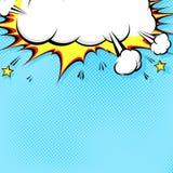 Ejemplo de cómic con la explosión en el top ilustración del vector